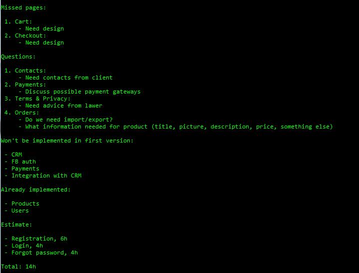 Вот так выглядит результат работы простого скрипта, который генерирует нужные артефакты из карты памяти